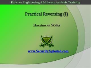 Practical Reversing (I)