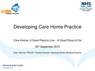 Developing Care Home Practice