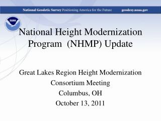 National Height Modernization Program  (NHMP) Update