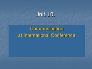 Unit 10.