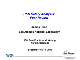 R&D Safety Analysis: Peer Review