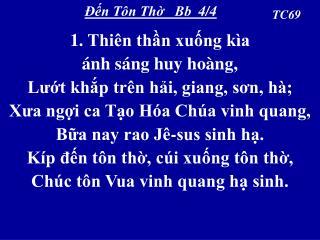 Ðến Tôn Thờ   Bb  4/4