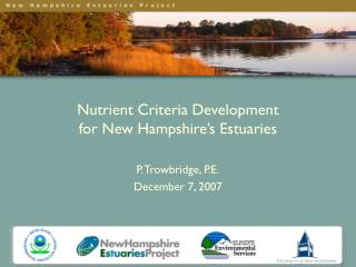 Nutrient Criteria Development  for New Hampshire's Estuaries