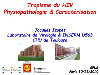 Tropisme du HIV  Physiopathologie & Caract�risation  Jacques Izopet