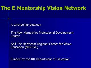The E-Mentorship Vision Network