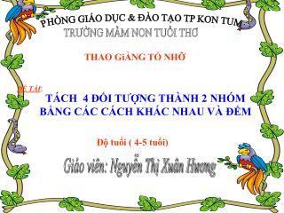 PHÒNG GIÁO DỤC & ĐÀO TẠO TP KON TUM