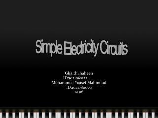 Ghaith shaheen  ID:1021080122 Mohammed Yousef Mahmoud ID:1021080079 12-06