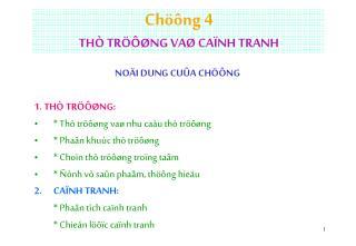 Chöông 4  THÒ TRÖÔØNG VAØ CAÏNH TRANH