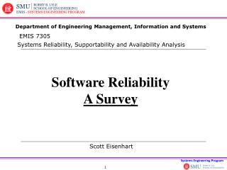 Software Reliability A Survey