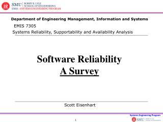 Software Reliability A Survey