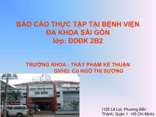 (125 Lê Lợi, Phường Bến Thành, Quận 1 - Hồ Chí Minh)
