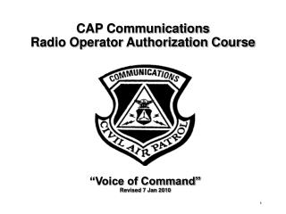 CAP Communications Radio Operator Authorization Course