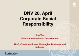 DNV 20. April Corporate Social Responsibility