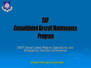 2007 Great Lakes Region Operations and Emergency Service Conference