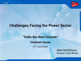 Challenges Facing the Power Sector