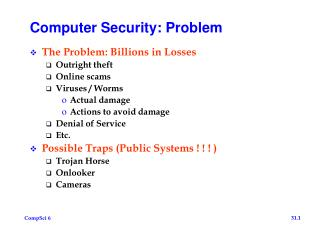 Computer Security: Problem