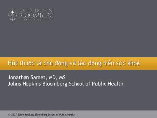 Hút thuốc lá chủ động và tác động trên sức khoẻ
