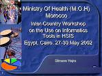 Ministry Of Health M.O.H Morocco
