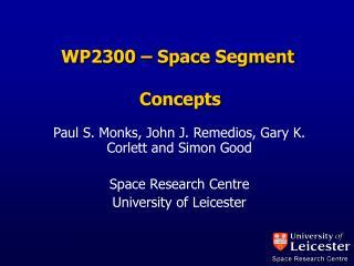 WP2300 – Space Segment  Concepts