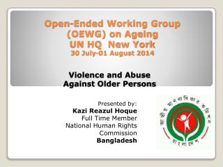 Violence and Abuse  Against Older Persons