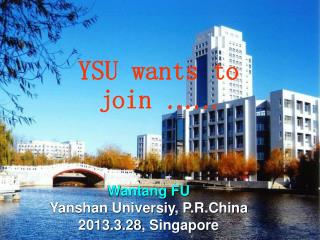 YSU wants to join  ……