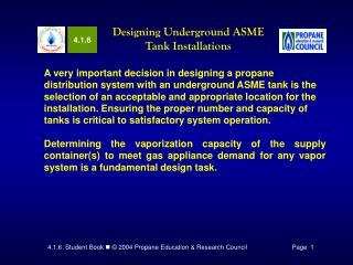 Designing Underground ASME Tank Installations