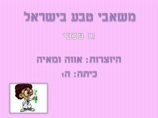 משאבי טבע בישראל