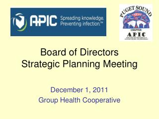 Board of Directors  Strategic Planning Meeting