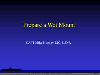 Prepare a Wet Mount
