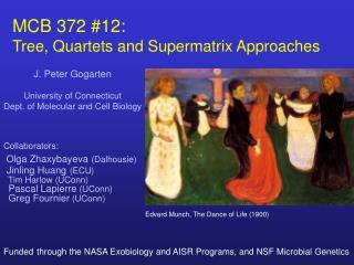 MCB 372 #12:   Tree, Quartets and Supermatrix Approaches