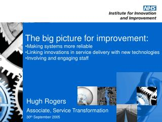 The big picture for improvement: Making systems more reliable