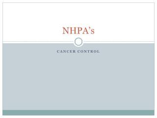 NHPA's