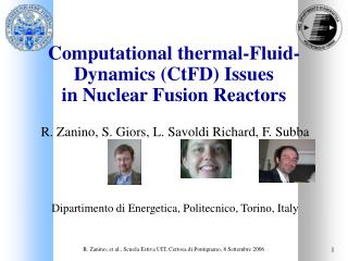 Computational thermal-Fluid-Dynamics (CtFD) Issues  in Nuclear Fusion Reactors