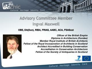 Advisory Committee Member Ingval Maxwell