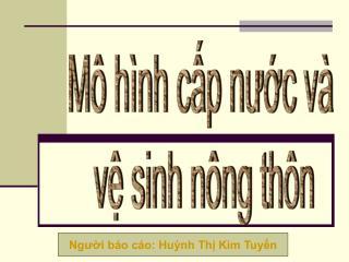 M� h�nh c?p n??c v�  v? sinh n�ng th�n