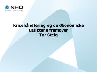 Krisehåndtering og de økonomiske utsiktene fremover Tor Steig