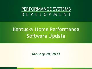Kentucky Home Performance  Software Update
