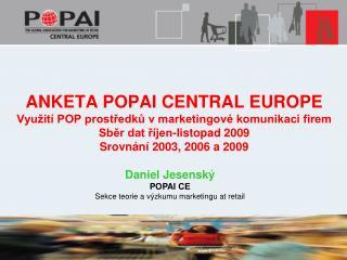 Daniel Jesenský POPAI CE Sekce teorie a výzkumu marketingu at retail