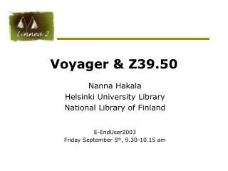 Voyager & Z39.50