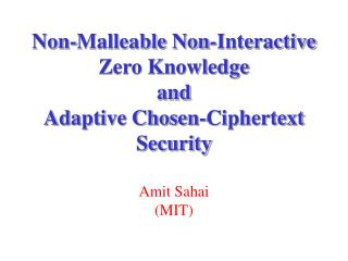 Non-Malleable Non-Interactive Zero Knowledge and Adaptive Chosen-Ciphertext Security