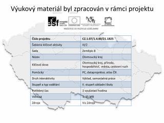 V�ukov� materi�l byl zpracov�n v r�mci projektu