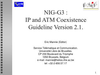 NIG-G3 : IP and ATM Coexistence Guideline Version 2.1.