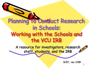 Planning to Conduct Research in Schools: