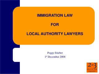 IMMIGRATION LAW  FOR  LOCAL AUTHORITY LAWYERS