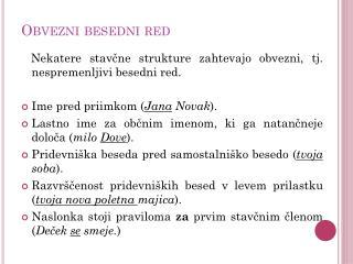 Obvezni besedni red