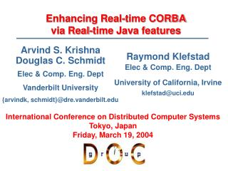 Enhancing Real-time CORBA via Real-time Java features