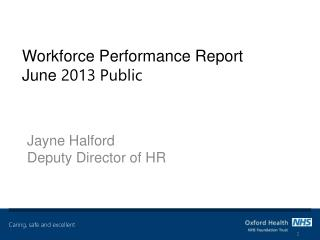 Workforce Performance Report June  2013 Public