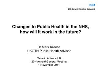 Changes to Public Health in the NHS, how will it work in the future?