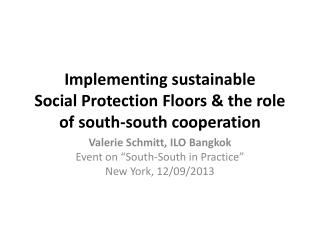 Implementing sustainable  Social Protection Floors & the role of south-south cooperation