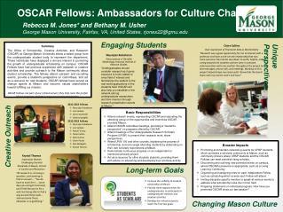 OSCAR Fellows: Ambassadors for Culture Change
